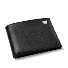 8 Card Billfold Wallet in Black Saffiano & Smooth Black