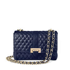 Large Lottie Bag in Navy Quilted Kaviar
