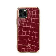iPhone 11 Pro Case in Bordeaux Patent Croc