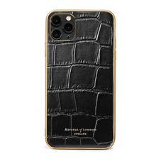 iPhone 11 Pro Max Case in Deep Shine Black Croc