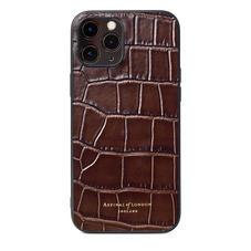 iPhone 12 Pro Max Case in Deep Shine Amazon Brown Croc