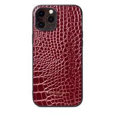 iPhone 12 Pro Max Case in Bordeaux Patent Croc