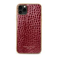 iPhone 11 Pro Max Case in Bordeaux Patent Croc