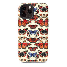 Emily Carter iPhone 12 Pro Max Case - Cream British Butterfly