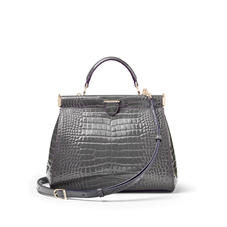 Small Florence Frame Bag in Storm Patent Croc