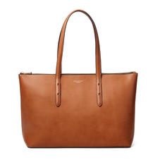 Zipped Regent Tote in Smooth Tan