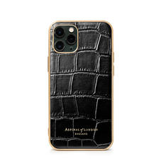 iPhone 11 Pro Case in Deep Shine Black Croc