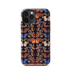 Emily Carter iPhone 11 Pro Case - Black British Butterfly