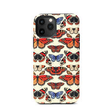 Emily Carter iPhone 11 Pro Case - Cream British Butterfly
