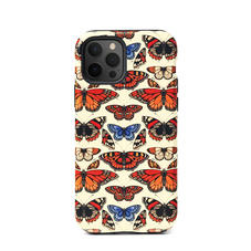 Emily Carter iPhone 12/12 Pro Case - Cream British Butterfly