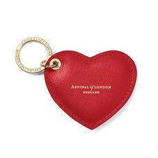 Leather Heart Key Rings