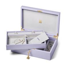 Savoy Jewellery Box in Deep Shine English Lavender Small Croc