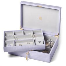 Grand Luxe Jewellery Case in Deep Shine English Lavender Small Croc