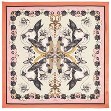 Emily Carter Silk Scarf - Hummingbird & Honeysuckle