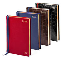 A5 Day Per Page Leather Diary
