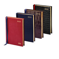 A6 Day Per Page Leather Diary