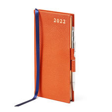 Slim Pocket Diary with Pen in Marmalade Pebble