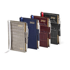 Mini Pocket Leather Diary And Pen
