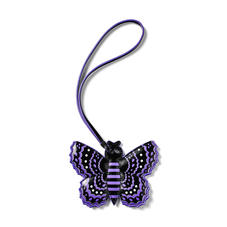 Butterfly Charm in Smooth English Lavender