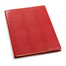 A4 Refillable Leather Journal in Red Lizard