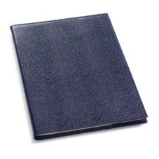 A4 Refillable Leather Journal in Navy Lizard
