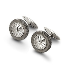 Sterling Silver Classic Spoked Wheel Cufflinks