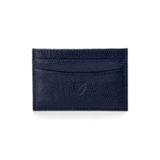 Slim Credit Card Case in Navy Lizard