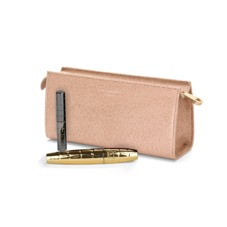 Small Cosmetic Case in Deer Saffiano