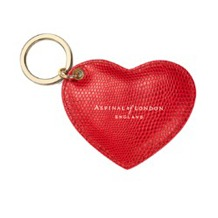 Leather Heart Keyring