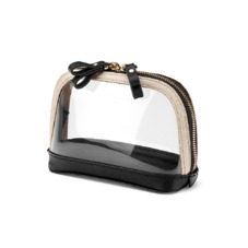 Small Hepburn Cosmetic Case in Clear Monochrome