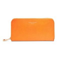 Continental Clutch Zip Wallet in Orange Lizard