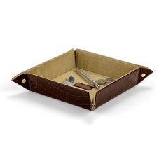 Medium Tidy Tray in Deep Shine Amazon Brown Croc & Stone Suede