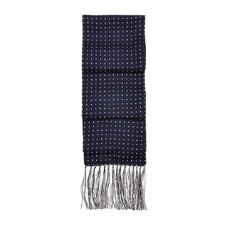 Men's Polka Dot Silk Scarf in Navy