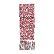 Men's Paisley Silk Scarf in Berry Red