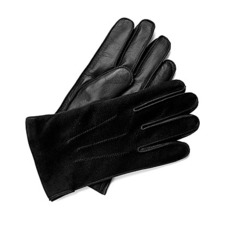 Shadow Men's Suede & Leather Gloves in Black