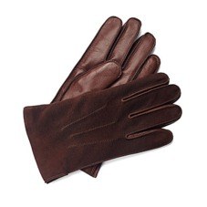 Shadow Men's Suede & Leather Gloves in Brown