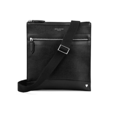 Anderson Small Messenger Bag in Black Saffiano