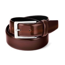 Men's Formal Leather Belt in Brown Shine