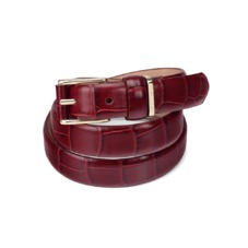 Ladies Westbourne Belt in Deep Shine Bordeaux Croc