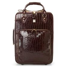 Large Cabin Case in Deep Shine Amazon Brown Croc