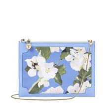 Beautiful Soul Soho Clutch in Smooth Misty Blue & Blossom Print