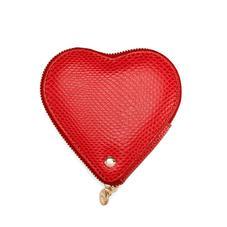Heart Coin Purse in Berry Lizard