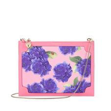 Beautiful Soul Soho Clutch in Smooth Blossom & Hydrangea Print