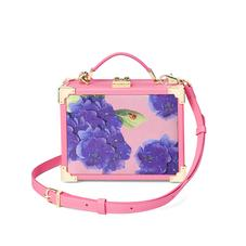 Beautiful Soul Mini Trunk Clutch in Smooth Blossom & Hydrangea Print