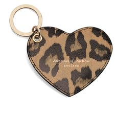 Heart Key Ring in Digital Leopard Print