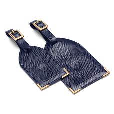 Set of 2 Luggage Tags in Navy Lizard