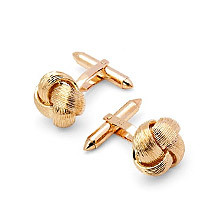 9ct Gold Fine Wire Knot Cufflinks