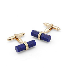 9ct Gold Lapis Lazulite Cufflinks