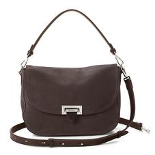 Slouchy Saddle Bag in Smokey Grey Nubuck