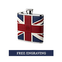 Brit Leather Hip Flask